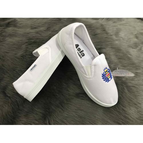 giày lười trắng